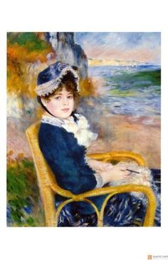 Giclee Print: By the Sea Shore by Pierre-Auguste Renoir : 17x11in
