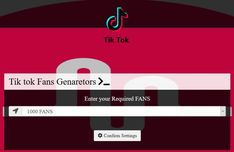 TikTok Fans Generator App which can generate your tiktok account with fans ranging from 1000 to You can choose how many fans from the dropdown list. Fake Followers, How To Get Followers, Heart App, Auto Follower, Free Followers On Instagram, Free Sweepstakes, Free Pro, Likes App, Black Background Images