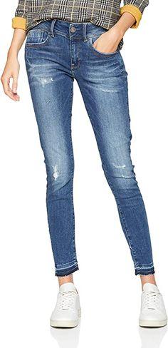 Blaue Jeans  Bekleidung, Damen, Jeanshosen G Star Raw, Star Wars, Skinny Jeans, Stars, Pants, Fashion, Blue Denim Jeans, Summer, Clothing