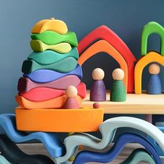 Grapat, Gluckskafer and Grimm's  how pretty is this?! All from @babipur . #lovebabipur #babipur #woodentoys #grapat #nins #glückskäfer #grimmswoodentoys #grimms #grimmstoys #openendedplay #openendedtoys #montessori #montessoritoys #montessorikids #waldorf #waldorftoys #waldorfinspired #stacking #stackingtoys