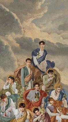 NCT wallpaper they look like freaking gods 💕 Jaehyun Nct, Nct 127, Nct Group, Wallpaper Aesthetic, All Meme, Kpop Fanart, Taeyong, K Idols, Nct Dream