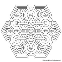Free Printable Geometric Coloring Pages for Adults. | geometry ...
