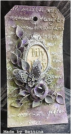 Scrap-Unlimited, Tag with flowers