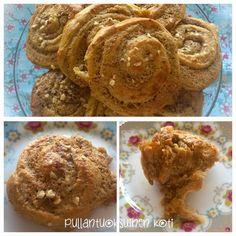 Mantelitäytteiset ja Kookostäytteiset kierrepullat - terveellisemmin  Rolled buns filled with mandel and coconut - healthier