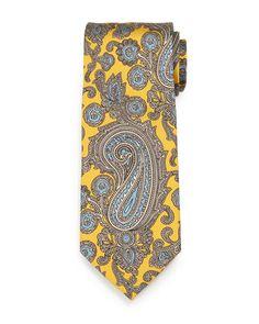 Paisley-Print Silk Tie by Brioni at Bergdorf Goodman.