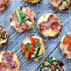 Cauliflower Crust Pizza Bites -paleo and grain free Best Cauliflower Pizza Crust, Cauliflower Recipes, Cauliflower Rice, Specific Carbohydrate Diet, Herb Salad, Recipe For Mom, Grain Free, A Food, Food Processor Recipes