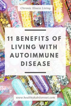 Autoimmune Disease changes everything, but that's not necessarily a bad thing. Here are 11 benefits and life lessons hiding beneath the struggles of living with chronic illness. Thyroid Symptoms, Thyroid Disease, Thyroid Health, Disease Symptoms, Hypothyroidism, Chronic Fatigue Syndrome, Chronic Illness, Chronic Pain, Autoimmune Disease Awareness