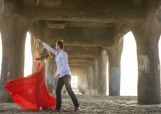 Manhattan Beach Engagement Session: Amanda +  Justin