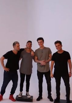 Caleb & Joey: our boys who need to stand on platforms to be closer in height with Chad & Spencer
