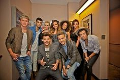 One direction and little mix backstage at the TCAs