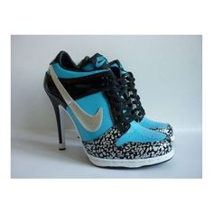 8d96180c1a36 Tennis Shoes Stilettos The Converse High Heel Sneakers ❤ liked on Polyvore  featuring shoes