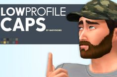 Marvin Sims: Low Profile Caps • Sims 4 Downloads