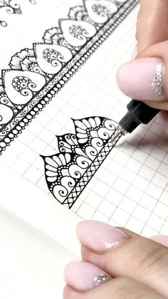 Doodle Art Drawing, Zentangle Drawings, Mandala Drawing, Zen Doodle, Zentangles, Art Drawings Sketches Simple, Pencil Art Drawings, Easy Drawings, Mandala Pattern