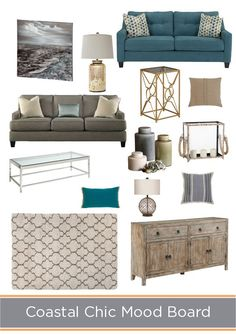 Redecorating and looking for chic coastal inspiration? Look no further! Redecorating and looking for chic coastal inspiration? Look no further! Coastal Bedrooms, Coastal Living Rooms, Living Room Decor, Coastal Bedding, Dining Room, Master Bedrooms, Ideas Hogar, Home And Deco, Room Colors