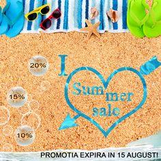 Sunt ultimele zile din SUMMER SALES cu pana la 20% reducere! https://decusut.ro/promotii/