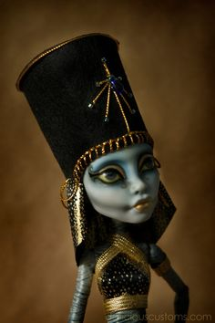 Mummy of Queen Hatshepsut Custom Monster High Doll - Dollicious Customs on Etsy, Sold Custom Monster High Dolls, Monster Dolls, Monster High Repaint, Custom Barbie, Custom Dolls, Ooak Dolls, Art Dolls, Zombie Monster, Ever After Dolls
