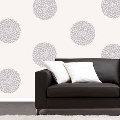 Wall decals vinyl stickers Ball Dahlias by elmostudio on Etsy