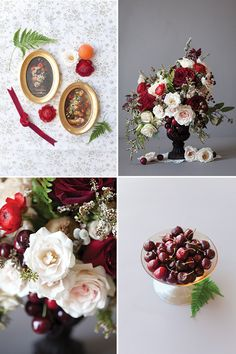 Magnolia Rouge: Ruby Red Rose Wedding Centrepiece