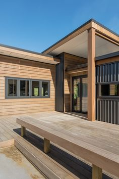 #KarakaLife House located in Karake, Auckland, New Zealand. Cedar cladding contrasting against Black Vertical Metal Cladding. Black aluminium joinery with Colorsteel longrun roofing. Auckland Waikato Coromandel
