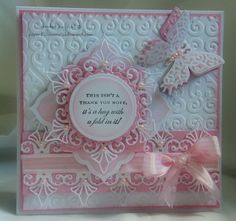 paperlicious oasis: Spellbinders Thank You card