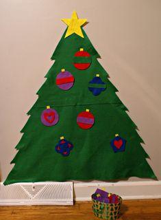 Montessori Christmas Activities for Toddlers - Decorate a Felt Tree Montessori Activities, Infant Activities, Christmas Activities For Toddlers, Felt Tree, Diy For Kids, Preschool, Baby Boy, Christmas Tree, Infants