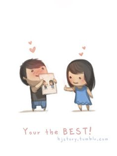 You&Apos;Re the best hj story иллюстрации. Hj Story, Love Is Cartoon, Cute Love Cartoons, Cute Love Stories, Love Story, Anime Chibi, Chibi Cat, Love You So Much, Love Her