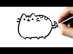 Comment dessiner pusheen cat TUTORIEL - How to draw pusheen cat TUTORIAL - YouTube