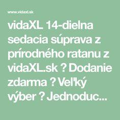 vidaXL 14-dielna sedacia súprava z prírodného ratanu z vidaXL.sk ► Dodanie zdarma ► Veľký výber ► Jednoduchý a bezpečný nákupí Math Equations