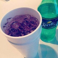 "Sonic Purple Sprite //  Ask for a Sprite with a splash of Lemonade, Powerade, & Cranberry Juice. Let them know that this is the ""Purple Sprite""."