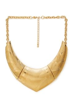 $10.80 Standout Etched Bib Necklace | FOREVER21 - 1000068032