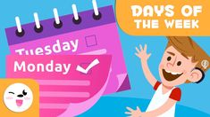 Days of the week for kids - What are the days of the week? - Learn new words in English English Class, Learn English, New Words In English, Learn Espanol, Child Smile, Preschool Education, Mardi, Educational Videos, Great Videos