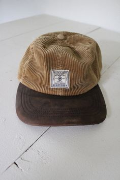 7fb2bab7 Polo Ralph Lauren Sportsman Brown Corduroy Leather Brim Adjustable Strap Hat