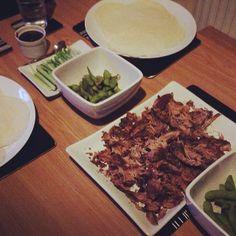 Duck feast! Crispy Duck & Pancakes with plum sauce