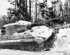 A abandoned King Kiger found by U.S. soldiers during the fighting in the Ardennes