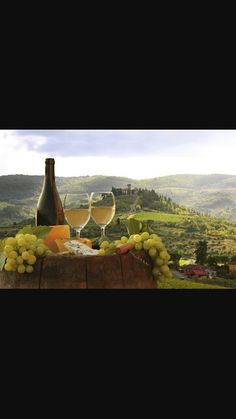 Picture of White wine with barrel on vineyard in Chianti, Tuscany, Italy stock photo, images and stock photography. Romantic Honeymoon Destinations, Italy Honeymoon, Romantic Getaways, Tuscany Food, Tuscany Italy, Tuscan Recipes, Toscana Italia, Italy Tours, France