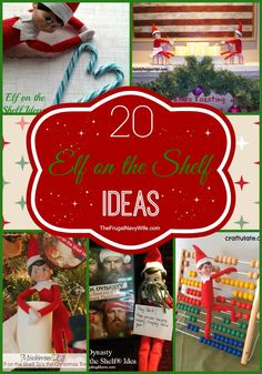 20 Elf on the Shelf Ideas Round Up #elfontheshelf #elfshefl #christmas