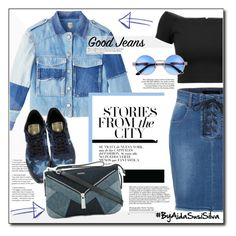 """All Denim, Head to Toe"" by aidasusisilva ❤ liked on Polyvore featuring LE3NO, Valentino, Diesel, Alice + Olivia and alldenim"
