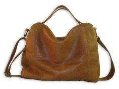 Leather Messenger Bag leather bag Big leather bag by AdaBags