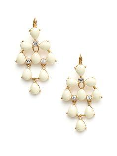 White Glossy Garden Earrings by kate spade new york on Gilt