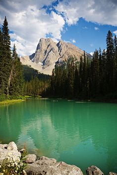 Sitting by this lake on a quiet, warm summer night is as close as one could ever get to experiencing paradise on earth. Beautiful Places To Visit, Oh The Places You'll Go, Beautiful World, Yoho National Park, National Parks, Emerald Lake, Paradise On Earth, Rocky Mountains, Vacation Spots