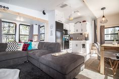 ⠀ Look at the HUGE lounge!⠀ ⠀ This renovation from Aaron Rees was shared … Decor, House, Interior, Home, Tiny House Living, Rv Living, Small House Decorating, Interior Design, Rv Homes
