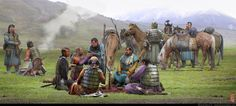 Mongol History, Rise of Genghis Khan and Impact on… Medieval World, Medieval Knight, Medieval Fantasy, Medieval Times, Warrior Concept Art, Fantasy Warrior, Fantasy Art, Historical Art, Historical Pictures