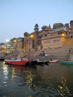 India, Varanasi. Early in the morning on the Ganges River also known as Ganga River in Uttar Pradesh