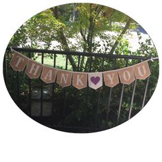 One of our fun, custom Thank You banners 💜