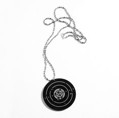 Necklace from Supermandolini Shooting Targets, Pistols, Pinterest Board, Online Boutiques, Galleries, Guns, Pendant Necklace, My Style, Silver