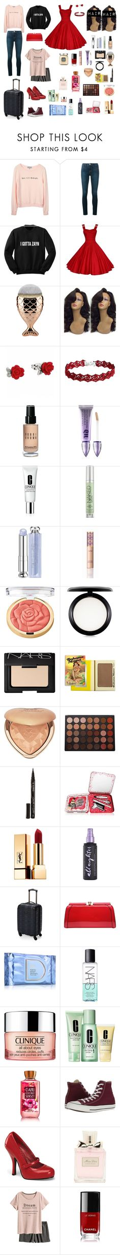 """Just one perfect day...."" by me1ody ❤ liked on Polyvore featuring Wildfox, Frame, Bobbi Brown Cosmetics, Urban Decay, Clinique, Christian Dior, tarte, Milani, MAC Cosmetics and NARS Cosmetics"