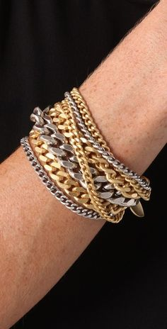 Giles & Brother Large Multi Chain Bracelet   SHOPBOP