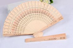 Wholesale Bridal Wedding Fans Chinese Wooden Fans Bridal Accessories Handmade 8'' Fancy Cheap Wedding Favours Small Gifts For Guests Ladies Hand Fans By Viola Under $0.53 | Dhgate.Com