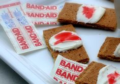 Bloody Band-Aid Cookies, another fantastic Halloween Party treat.