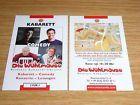 #Ticket  Die Wühlmäuse Berlin  2 Für 1 Gutscheincoupon  Kabarett  Theater NEU!! #Ostereich